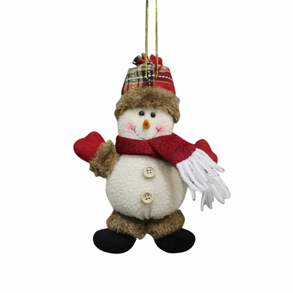 2018 frohe Weihnachten Ornament Santa Schneemann Rentier Spielzeug Puppe Party Hängen Dekorationen für zu hause weihnachten Geschenk Enfeites De Natal