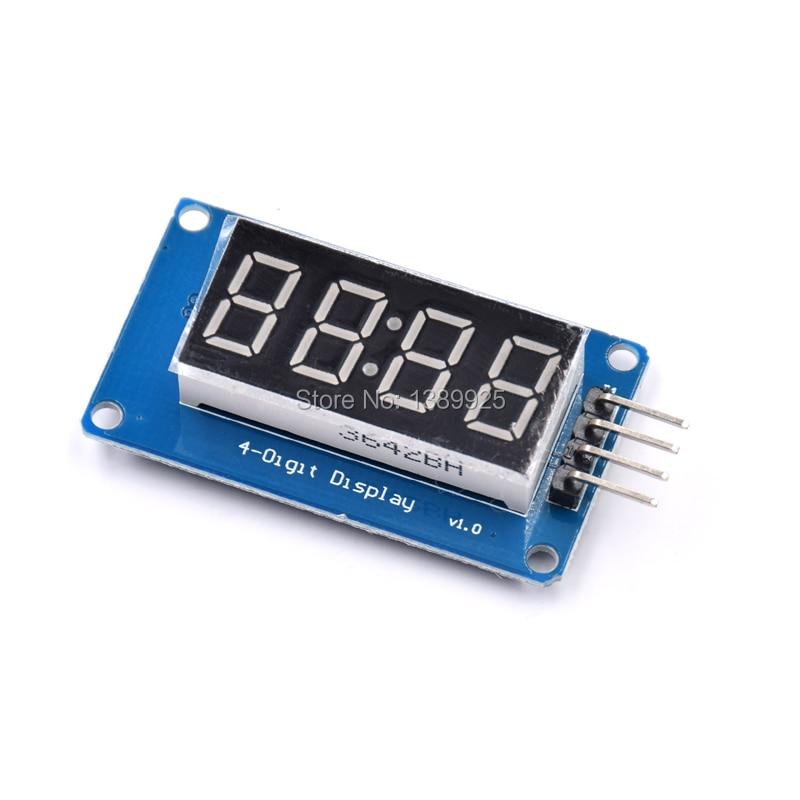 10pcs 4 Bits TM1637 Red Digital Tube LED Display Module & Clock LED Free Shipping