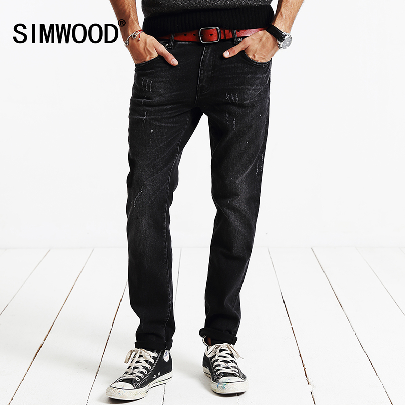 SIMWOOD Brand 2017 New Autumn Winter denim trousers