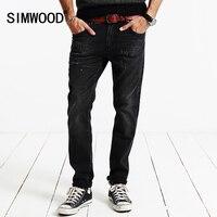 SIMWOOD Brand 2016 New Autumn Winter Denim Trousers Jeans Men Slim Fit Black Clothing Pants SJ6065
