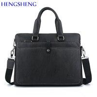 HENGSHENG Quality PU Leather Laptop Briefcase For Fashion Men S Briefcase Men Handbag And Leather Shoulder