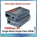 Htb-3100ab Оптическое Волокно Media Converter Волоконно Трансивер Одиночное Волокно Преобразователь 25 км SC 10/100 М Одномодовых Одиночное Волокно