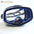 Layaone máscara de buceo de silicona de vidrio templado pesca submarina, buceo bajo el agua pesca piscina de buceo máscaras M246