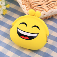 Women S Cartoon Silicone Coin Purse Key Earphone Storage Bags Wallet Container Cute Waterproof Face Expression