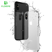 FLOVEME Tempered Glass Phone Case for iPhone X 10 , 0.55MM Protective Mobile Phone Cover Cases for iPhone 7 8 7 Plus Accessories(China)