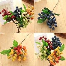 unids alta calidad de cuatro colores berry plantas flores de seda decoracin de la boda regalos plantas caliente venta