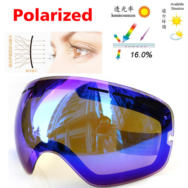 a3be88a842a Orignal Polarized Lens for Snowboard Ski Goggles GOG-201 Outdoor Sport  UV400 Anti-fog