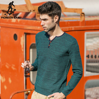 Pioneer Camp Free Shipping 2016 Spring New Fashion Mens Sweater Casual Pullover Slim Knitwear Tshirts Long