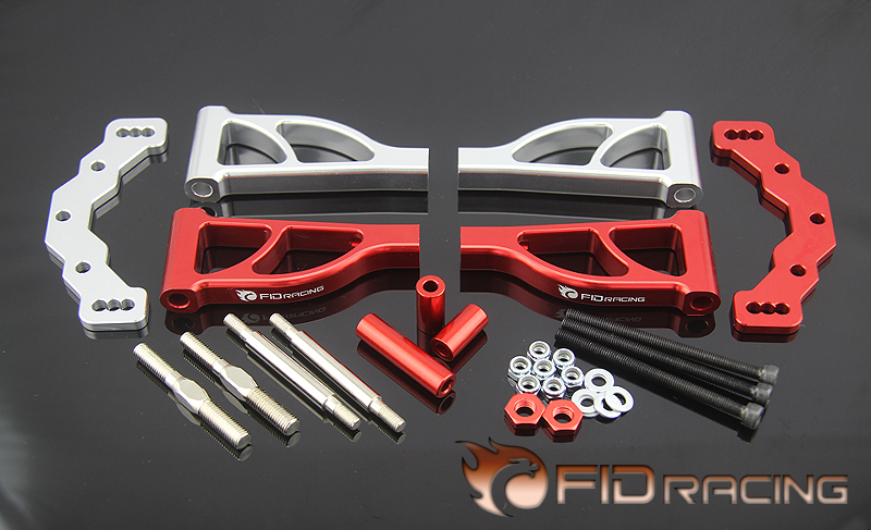 FidRacing Baja Rear up arm set for LOSI 5IVE-T цена