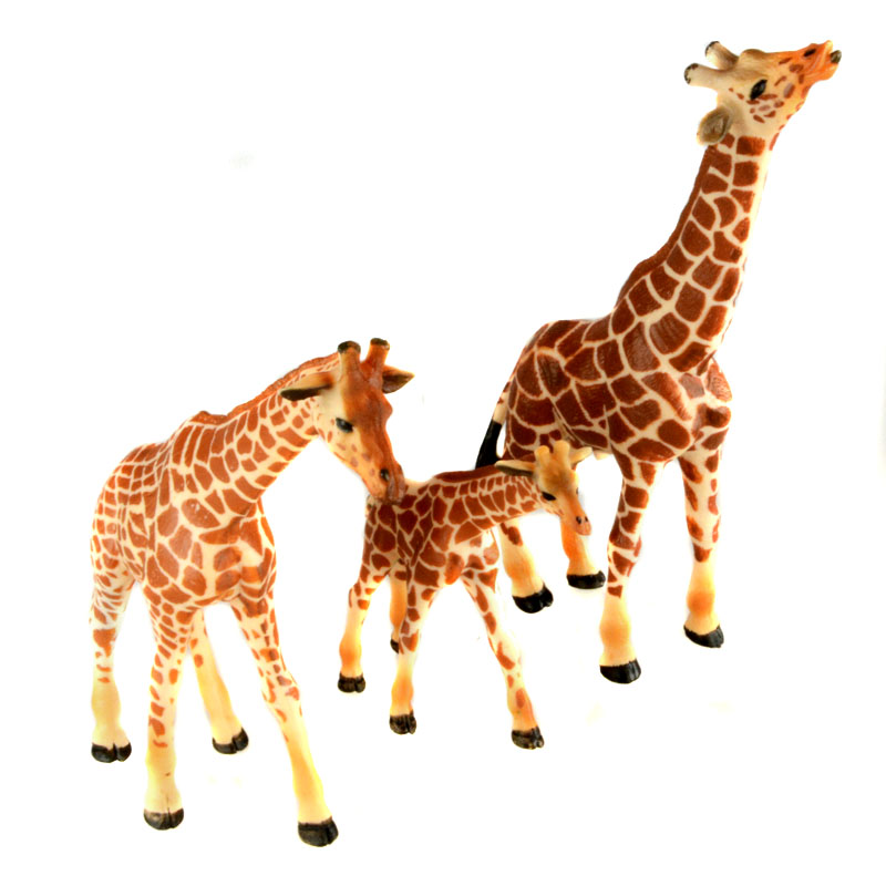 Starz PVC Animals World 3pcs/set Giraffes Family Staric Model Plastic Action Figures Toys Gift for Kids купить