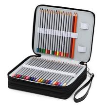 124 support 4 couche Portable en cuir PU école crayons étui grande capacité sac à crayons pour crayons de couleur aquarelle Art fournitures