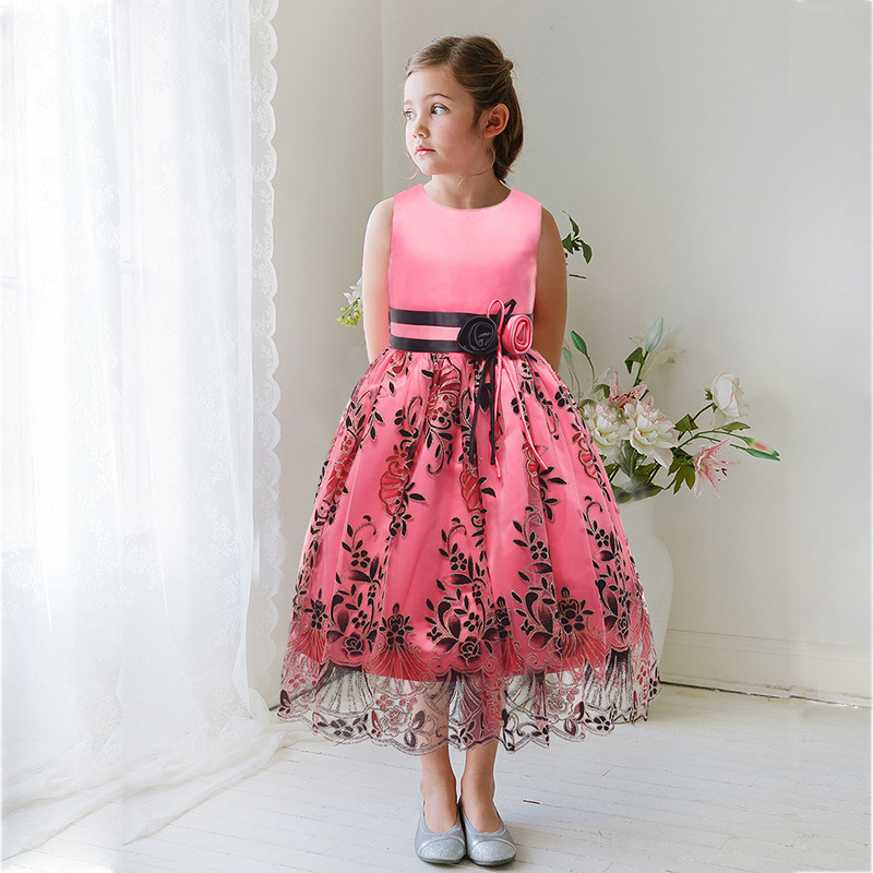Casual A Line Party Dance Christmas Flower Girl Dress Pageant ...