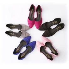 7 candy color plus size 35-41 flat shoes woman fashion pointed toe shallow mouth empty flat shoes elegant women OL dress shoes