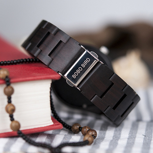 Image 4 - ボボ鳥レロジオ masculino 木製腕時計男性時計クォーツ時計木製のギフトボックス oem ドロップ無料 W O03