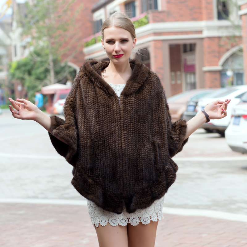 JKP 2018 new hot sales ladies fashion mink fur coat bat type knit hooded jacket warm cold fashion coat discount STD 1016