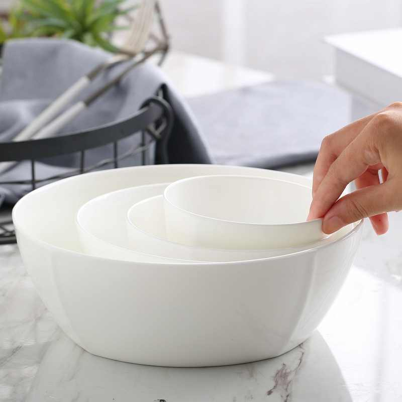 4.5 inch, square bone china salad bowl,  korean style ceramic rice bowl, porcelain soup bowl, for kitchen and dinner