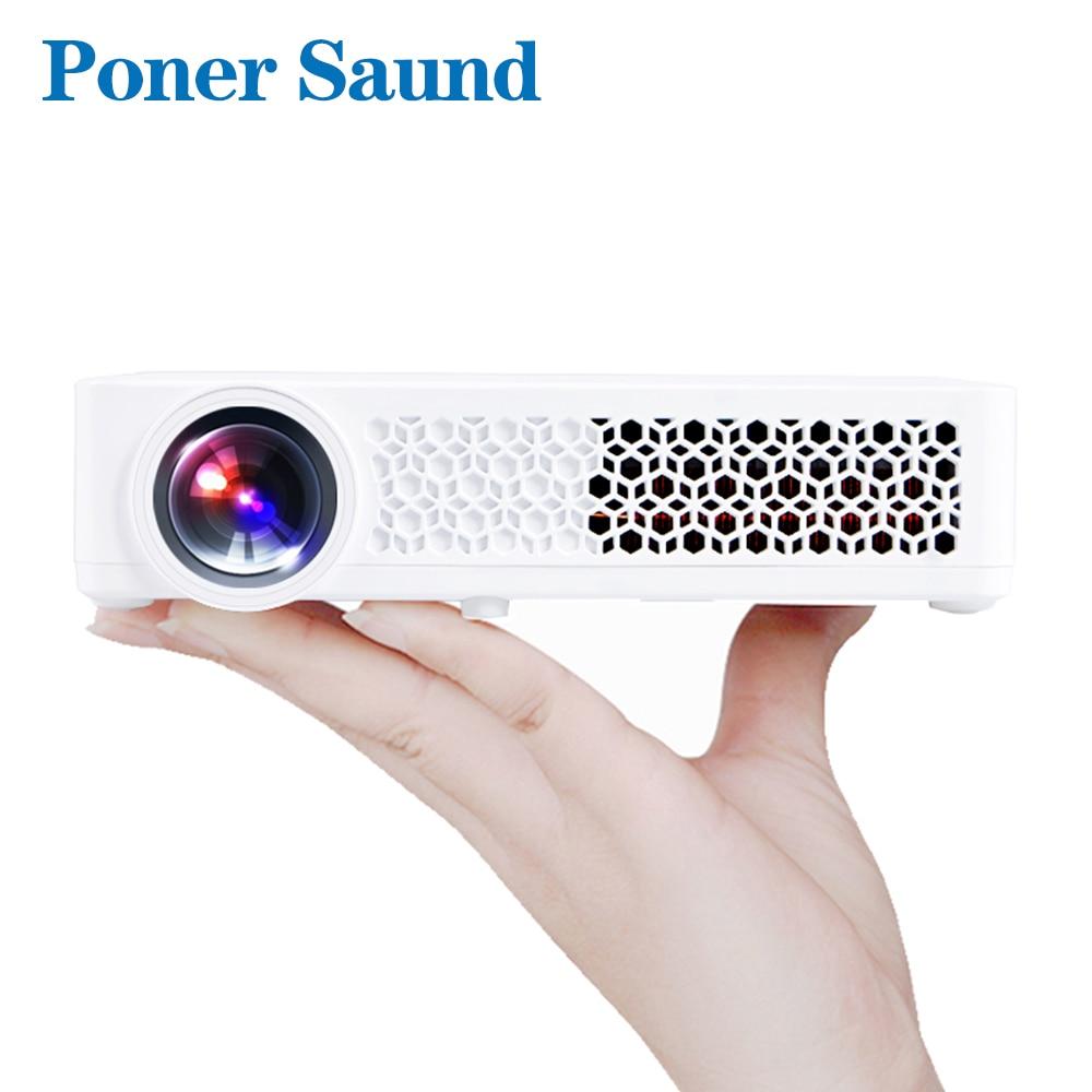 Poner Saund DLP Mini projecteur Portable Projetor Android obturateur 3D WIFI bluetooth Portable Home cinéma 1080p Proyector Dlp 800W