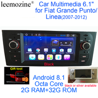 Newest Android 8.1 Octa Core GPS Navigation Stereo 6.1 Car DVD Multimedia for Fiat Grande Punto/Linea 2007 2012 with Radio/RDS