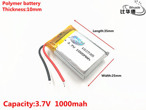 Image 2 - 5pcs/lot Good Qulity 3.7V,1000mAH,102535 Polymer lithium ion / Li ion battery for TOY,POWER BANK,GPS,mp3,mp4