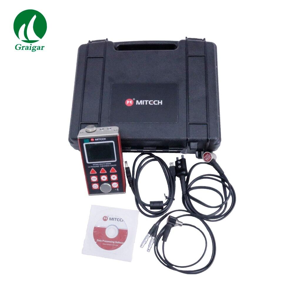 С Bluetooth принтер MT 660 через покрытие цвет TFT ЖК дисплей Цифровой Ультразвуковой толщиномер метр