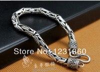 925 Pure Silver Ministering Bracelet Jewelry Thai Silver Male Bracelet