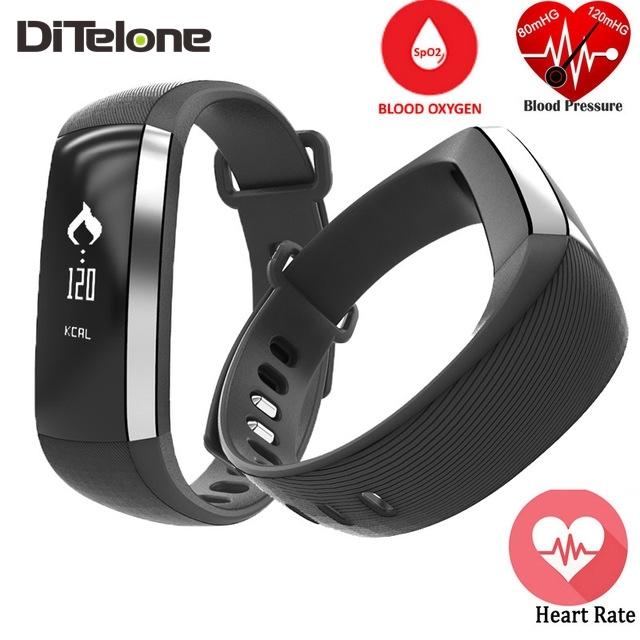 DiTelone M2 Pulseira Bluetooth Inteligente Banda Monitor De Freqüência Cardíaca Pedômetro Oxímetro De Oxigênio Rastreador Esporte Pulseira Para iOS Android