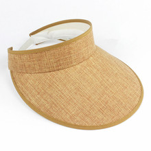 Cappello del sole della Visiera spiaggia vuota top di estate del cappello di  canapa naturale topless Cappello di 06aa4de823c3