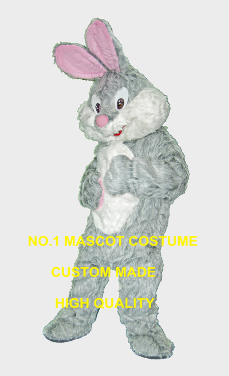 Hot Sale Plush Happy Easter Bunny Mascot Costume Adult Cartoon Rabbit Theme Carnival College Mascotte Fancy Dress Kits Suit 1848
