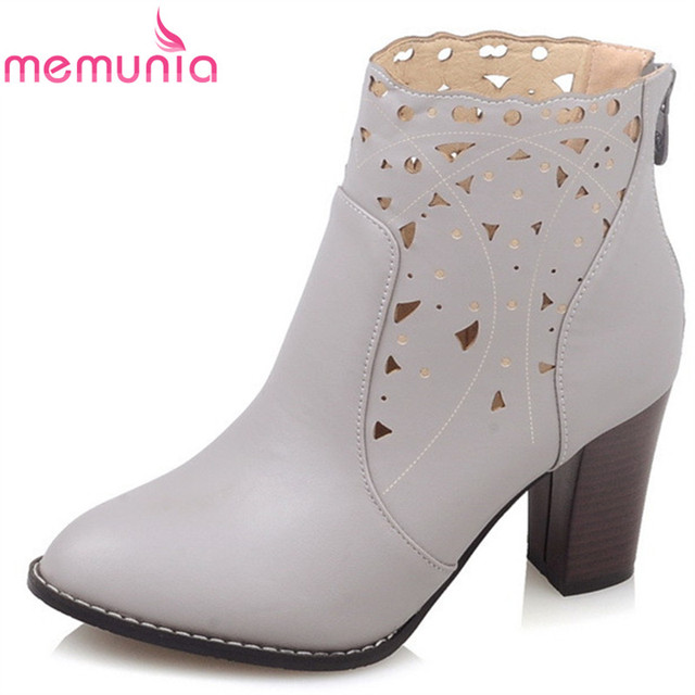 MEMUNIA Cheville bottes pour cm femmes talons hauts chaussures 7.5 cm pour f206a7