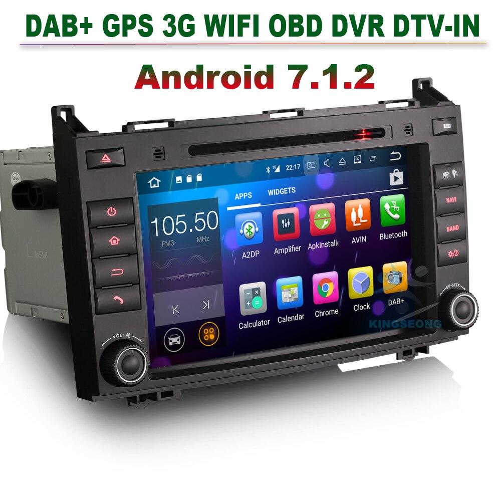 8 Android 7.1 Autoradio DAB+DVR Car GPS Navigation for Mercedes A Class W169 B Class W245 Sprinter Vito Viano bluetooth 3g