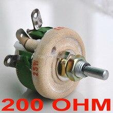 Мощный проволочный потенциометр 25 Вт 200 Ом, реостат, переменный резистор, 25 Вт.