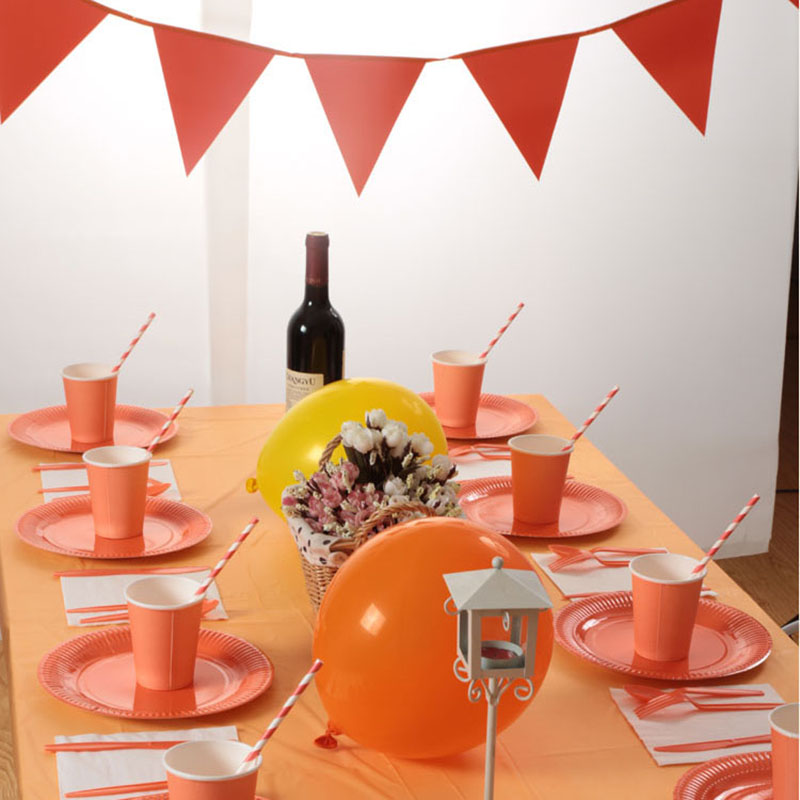 Birthday Party Disposable Tableware Set Solid Color Theme Banner/Paper Cups/ Plate/Straw Table Cloth Baby Shower Party Supplies-in Disposable Party Tableware ... & Birthday Party Disposable Tableware Set Solid Color Theme Banner ...