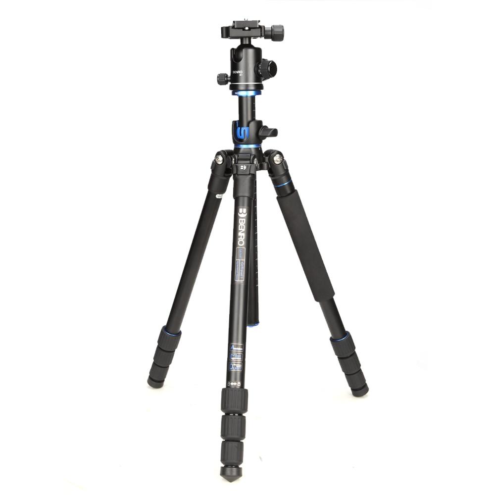 Benro SystemGo Profissional Bola de Cabeça Para Canon Nikon Sony Olympus Tripé de 360 Graus Panorâmica Tripés De Alumínio GA168TB1 Shool