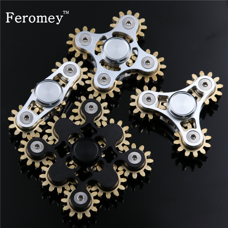 Gears Fidget Spinner Toys Fingertip Finger Top Gyro Toys EDC Metal Hand Spinner Finger Spiner Fidget Toys for ADHD blue purple camouflage cute printing fidget hand finger spinner for autism and adhd anti anxiety camouflage adult kids toys
