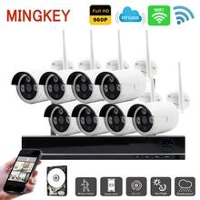 1.3MP Sans Fil Système de Caméra de Sécurité 8ch Wifi NVR Kit 960 P IR IP Caméra Accueil Système de Surveillance Vidéo avec DISQUE DUR À Distance vue