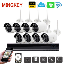 1.3MP Wireless Security Camera System 8ch Wifi NVR Kit 960P IR IP Camera Home Video Surveillance System with HDD Remote View