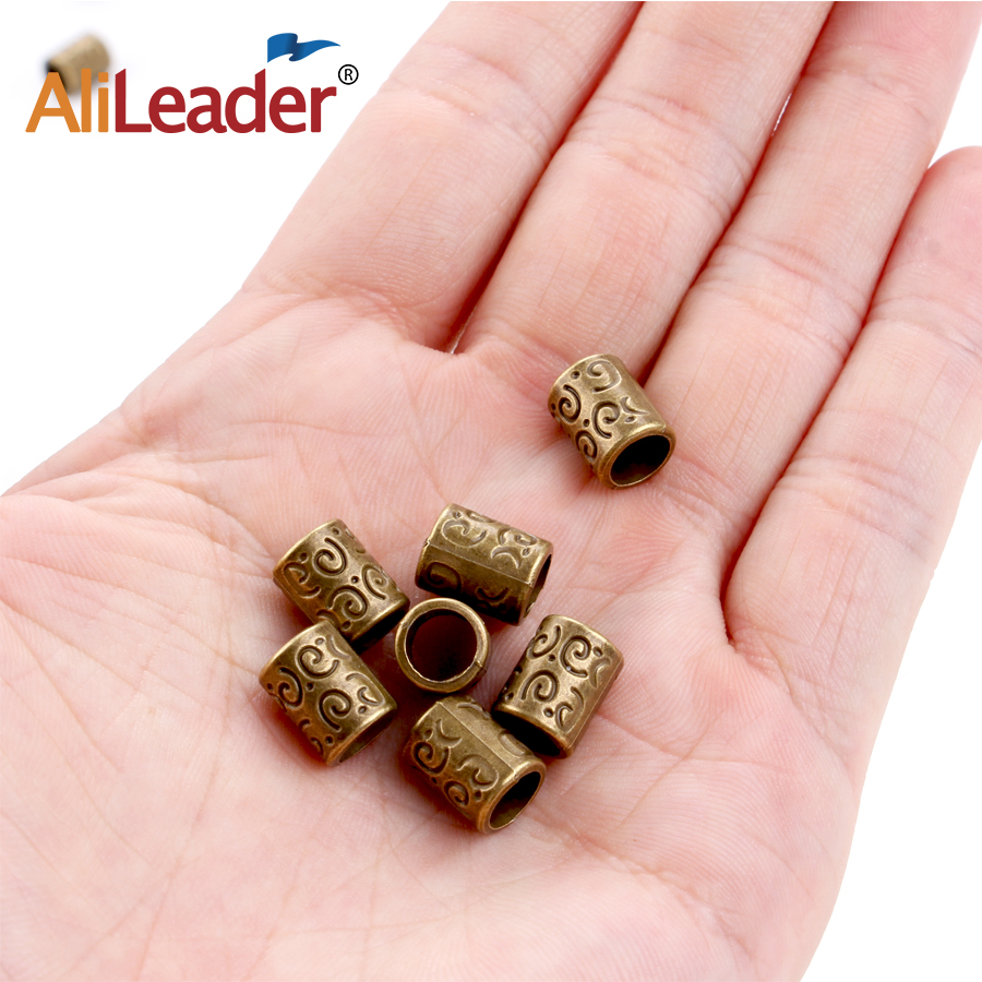 Alileader Dreadlocks Hair Braid Rings Dreadlocks For Women Metal Hair Cuffs Hair Braiding Beads for Hair Accessory