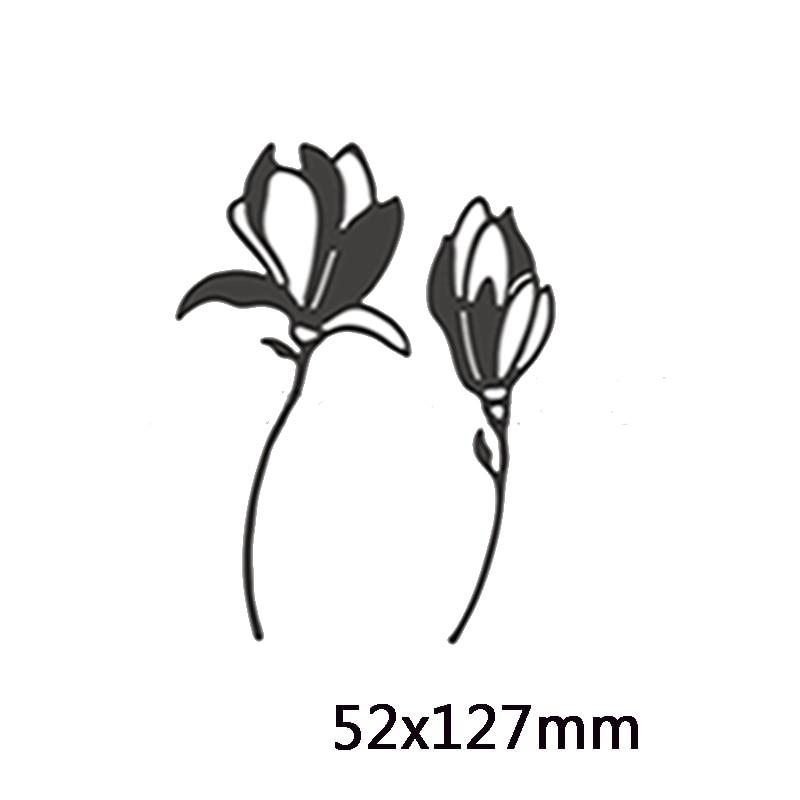 Васильковые травы эвкалиптовая ветка цветы металлические Вырубные штампы для поделок скрапбукинга бумажные открытки, декоративные поделки новые штампы - Цвет: Picture 5