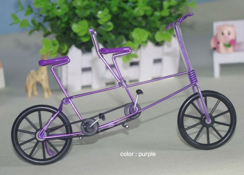 Two seater Bicycle Finger Bikes Creative wrought iron handicrafts souvenirs crafts tandem Bicycle Model