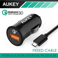 Quick Charge 3.0  Aukey 3-in-1 Car Charger  2.4A for Android + Quick car Charger for QC 2.0 compatible smartphone