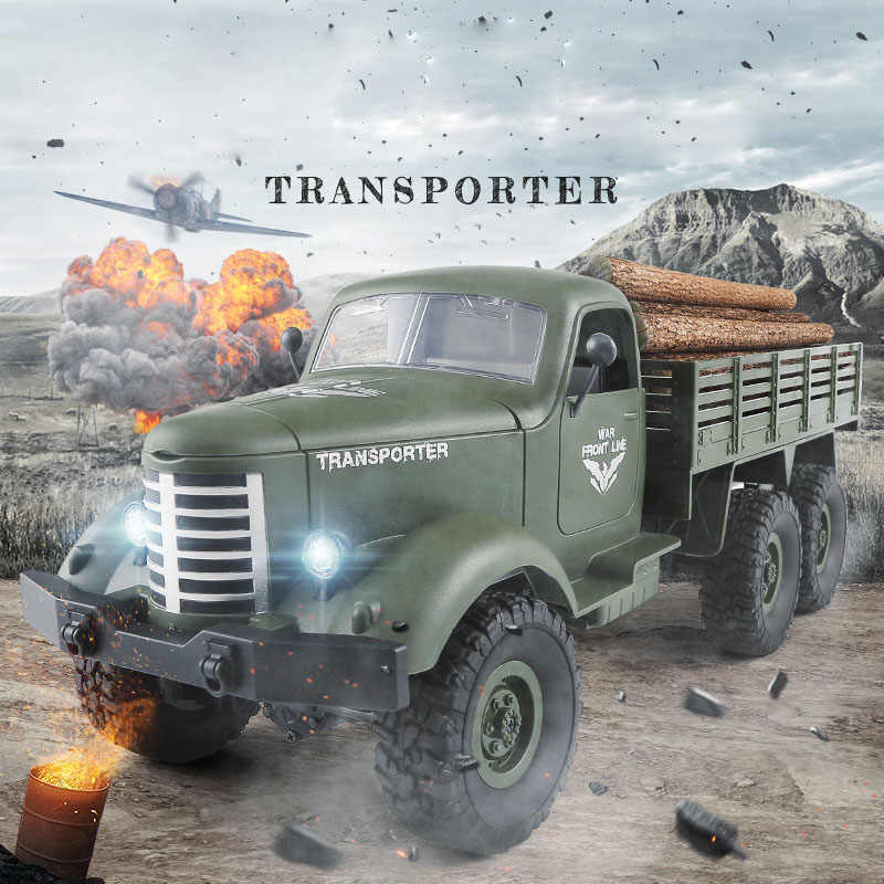 รถบรรทุกมอนสเตอร์ RC รีโมทคอนโทรลทหารยานพาหนะ Off-Road Warrior 6X6 ยุทธวิธี 2.4G Rock Crawler อิเล็กทรอนิกส์ของเล่นเด็กของขวัญ