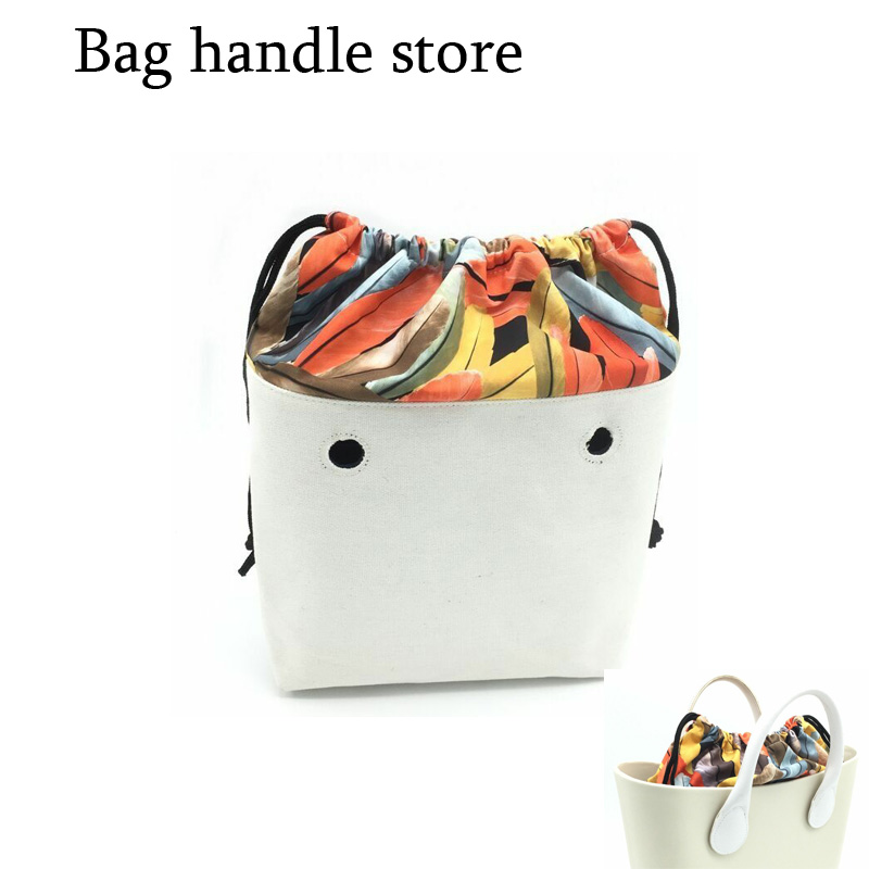 1 piece new string inner bag insert bag for mini and classic bag for obag tanqu tela insert lining for o chic ochic colorful canvas inner pocket waterproof inner pocket for obag