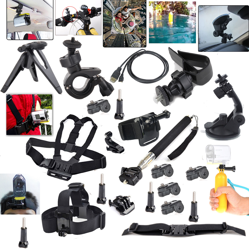 For Ion Air Pro Set Accessories Kit Mount for Sony Action Cam HDR-AS15 AS20 AS30V AS100V AS200V X100V/W 4K
