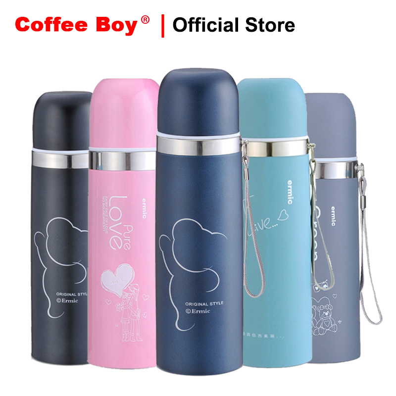 Coffee Boy 500ml 304 stainless steel thermos for tea women student water bottle Mini thermocup termos thermo mug thermos