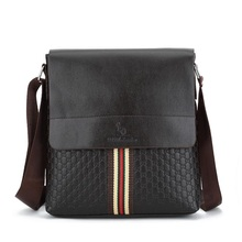 New Arrival Fashion Business Leather Men Messenger Bags Promotional Small