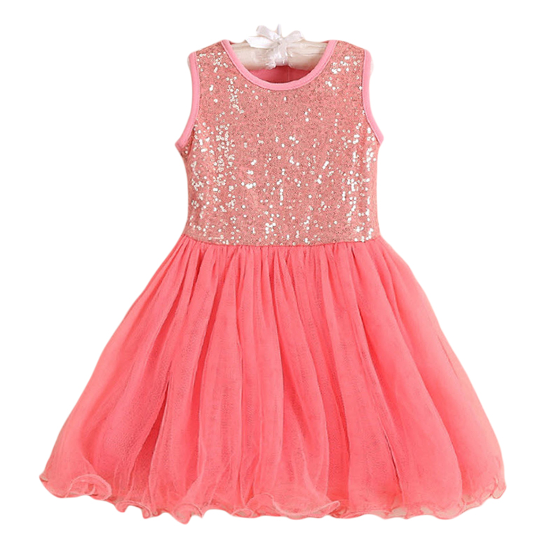 Buy Cheap Girls Tutu Dress Sequins Lace Party Dresses Sleeveless Kids Birthday Wedding Frocks Red Pink Dance Clothes For 3-7 Years GD61