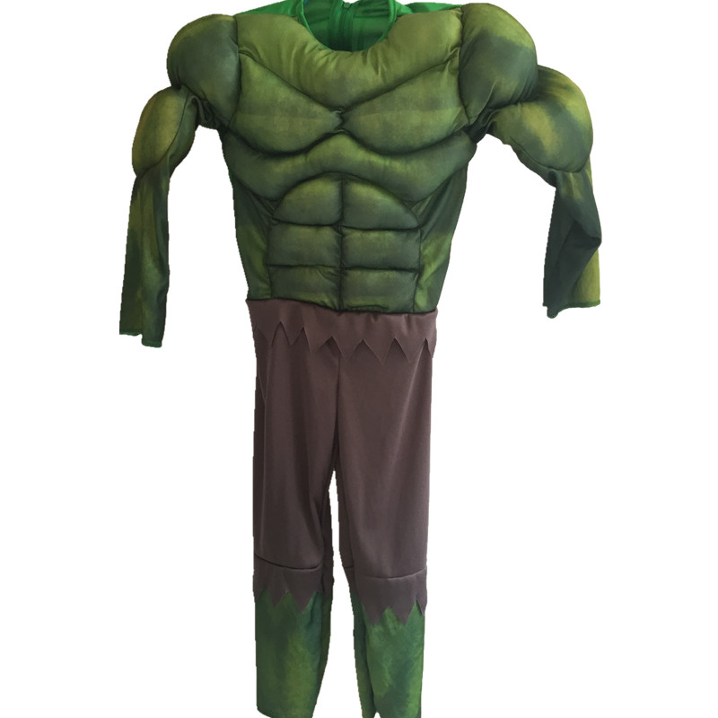 Boys Hulk Muscle Cosplay Jumpsuits  Kids Superhero Movie Role Cosplay Costume Halloween Cosplay Muscle Costume for Children