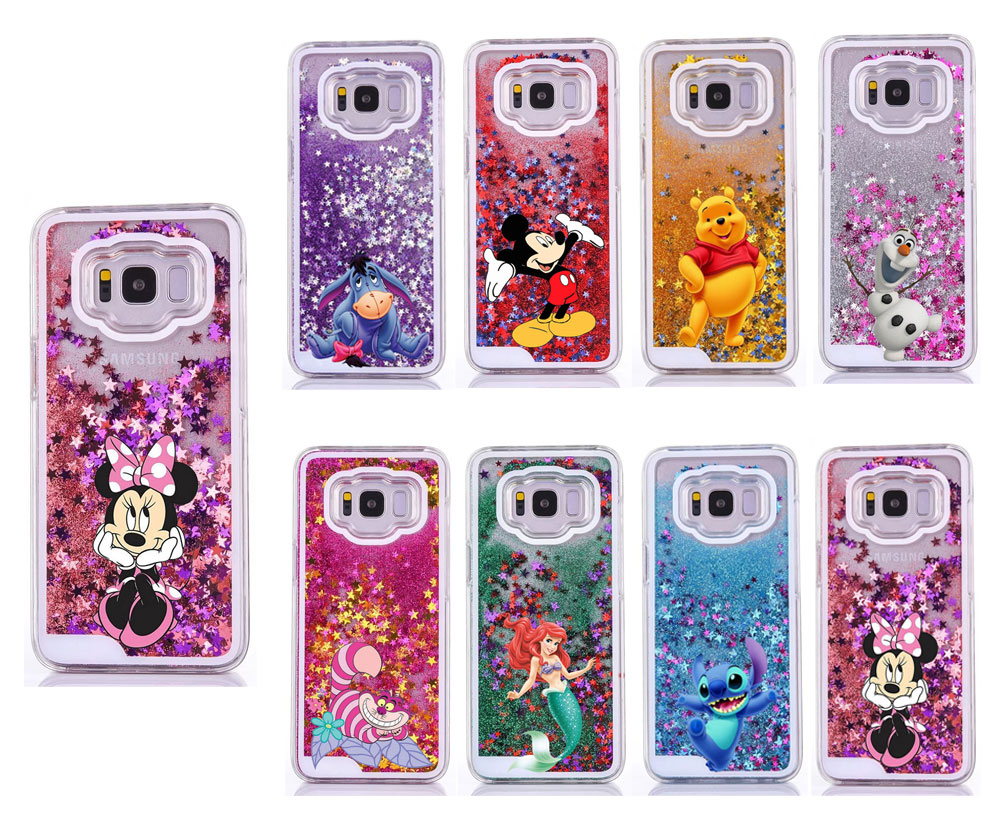 Water Liquid Case for Samsung GALAXY S9 S9Plus S7 S6 S5 S7edge S8/S8Plus Note 8 9 Mickey Minnie Mouse Mermaid Quicksand Cover