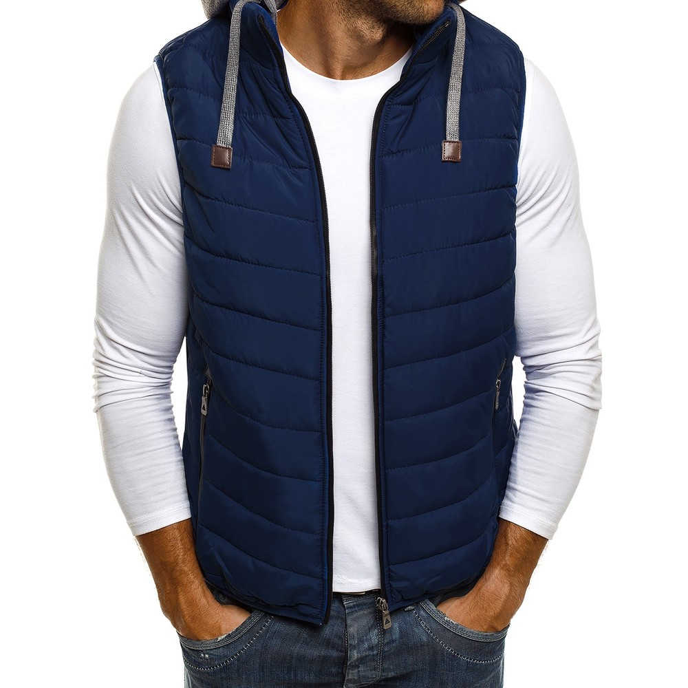 ZOGAA Men Vest Winter   Parka   Sleeveless Casual Coats Male Cotton-Padded Vest Ultralight Mens Windproof Warm Waistcoat