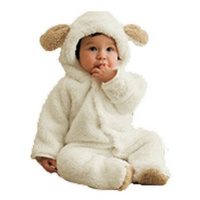 DOUBCHOW Baby Girls Boys Infant Toddler Winter Cute Animal Bear Bunny Sheep Thicken Fluffy Snowsuit Baby Rompers Cosplay Costume